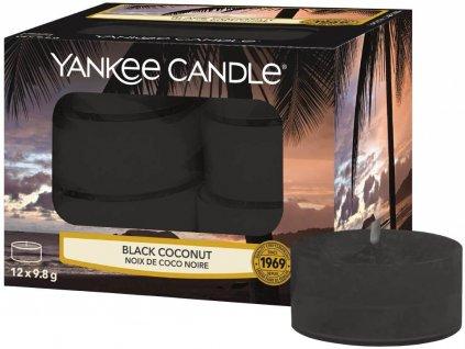 6752 yankee candle cajove svicky black coconut 12 ks