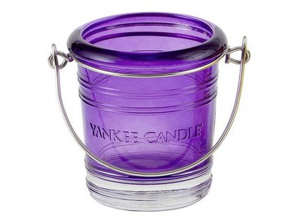 7115 yankee candle glass bucket svicen na votivni svicku fialovy