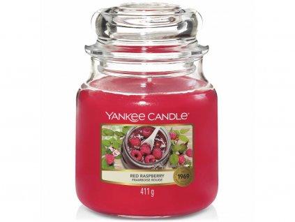 yankee candle red raspberry stredni