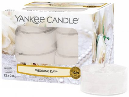7754 yankee candle cajove svicky wedding day 12 ks