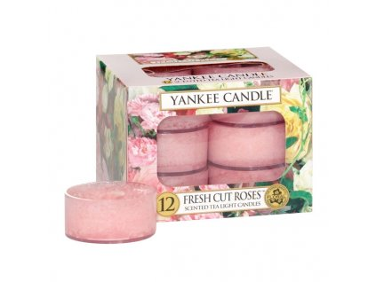 7799 yankee candle cajove svicky fresh cut roses 12 ks