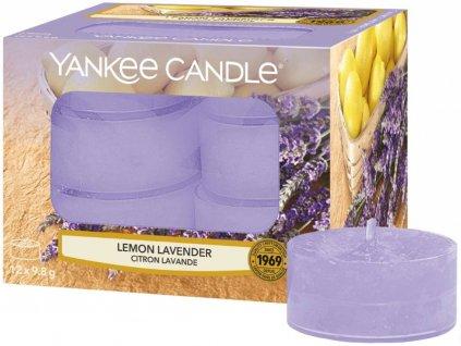 7808 yankee candle cajove svicky lemon lavender 12 ks