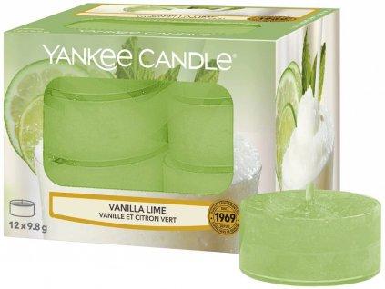 7817 yankee candle cajove svicky vanilla lime 12 ks