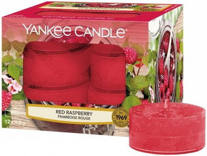 9443 yankee candle cajove svicky red raspberry 12 ks