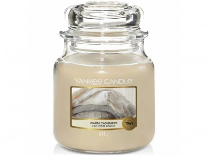 yankee candle warm cashmere stredni