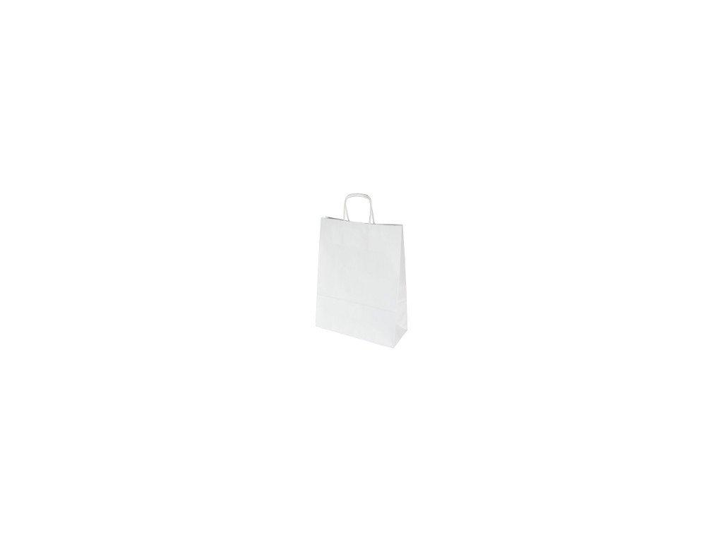 Papírová taška Bílá 24x10x32