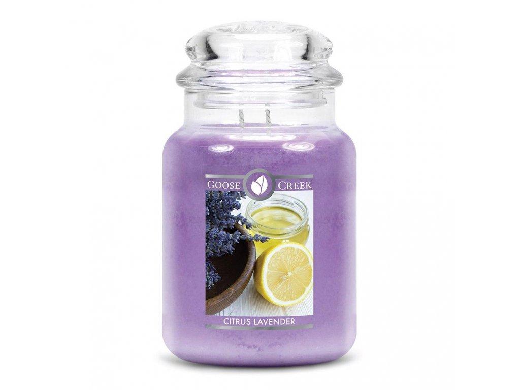 Svíčka Goose Creek Citrus Lavender Citron a Levandule 680g velká