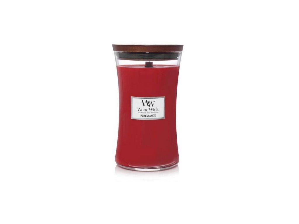 Svíčka WoodWick Pomegranate - Granátové Jablko 609,5g velká