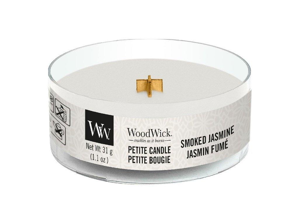 Svíčka WoodWick Smoked Jasmine Kouřový Jasmín 31g petite