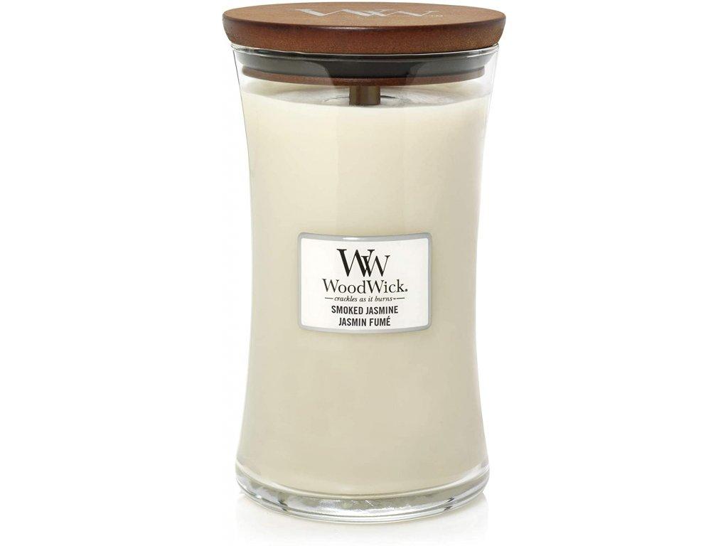 Svíčka WoodWick Smoked Jasmine - Kouřový Jasmín 609,5g velká