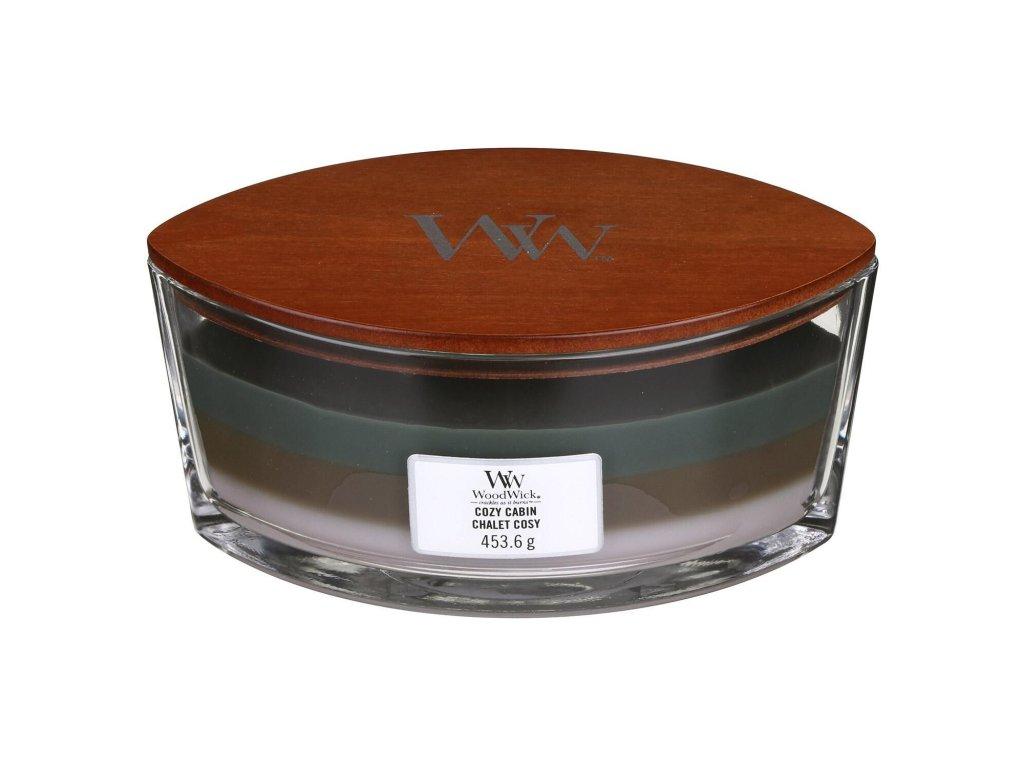 Svíčka WoodWick Trilogy Cozy Cabin Útulný Srub 453,6g lodička