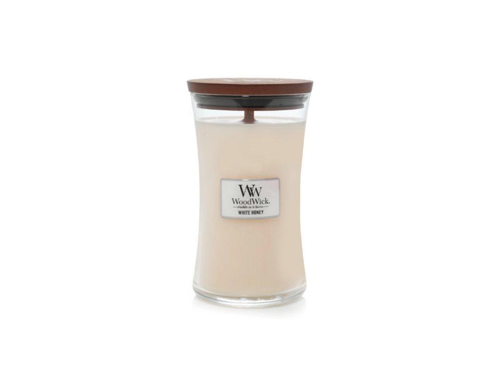Svíčka WoodWick White Honey - Bílý Med 609,5g velká