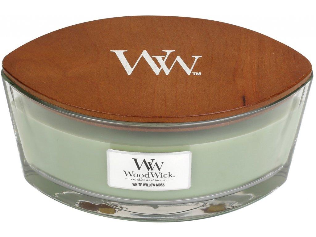Svíčka WoodWick White Willow Moss Vrba a Mech 453,6g lodička