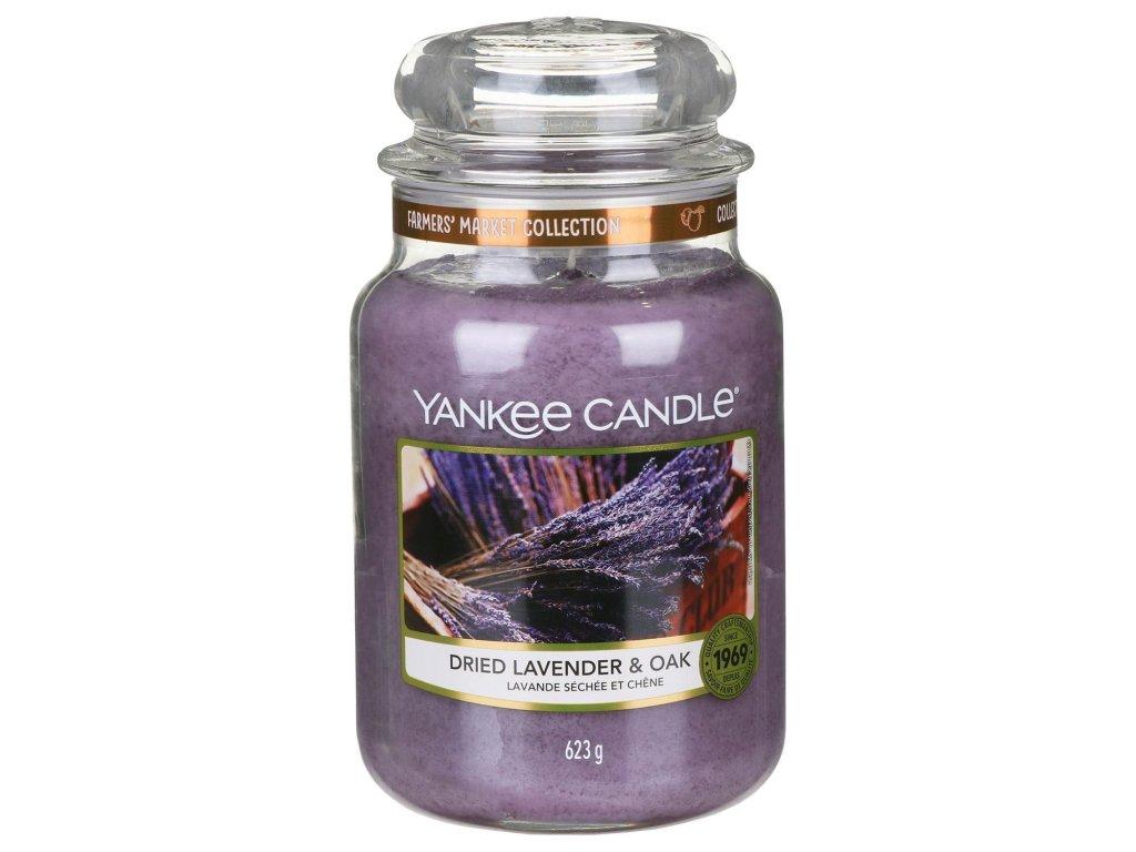 Svíčka Yankee Candle Dried Lavender & Oak- Sušená Levandule a Dub 623g velká