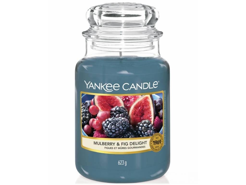 Svíčka Yankee Candle Mulberry & Fig Delight - Moruše a Fík 623g velká