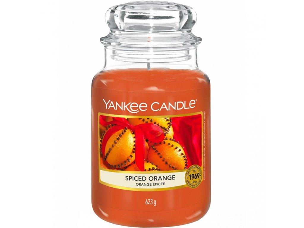 Svíčka Yankee Candle Spiced Orange - Pomeranč a Koření 623g velká