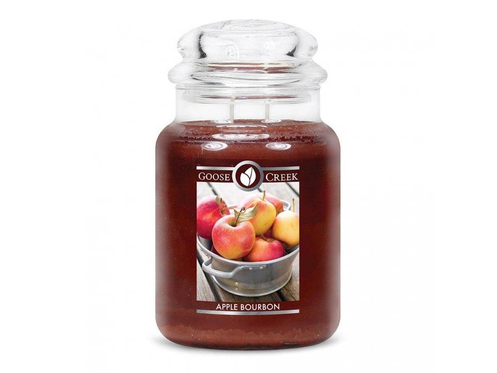 Svíčka Goose Creek Apple Bourbon Jablečný Burbon 680g velká