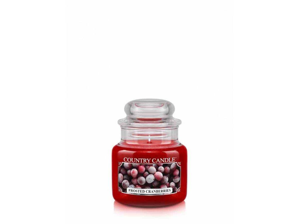 Svíčka Country Candle Frosted Cranberries - Zmrzlé Brusinky 104g malá