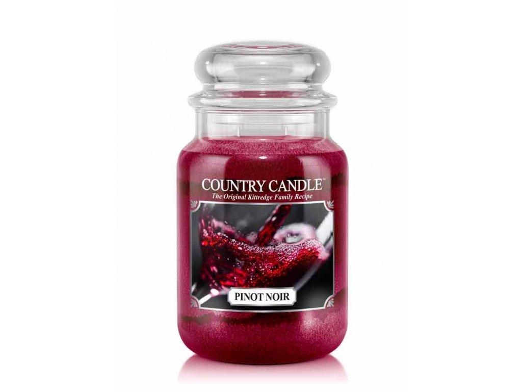 Svíčka Country Candle Pinot Noir - Rulandské Modré 652g velká
