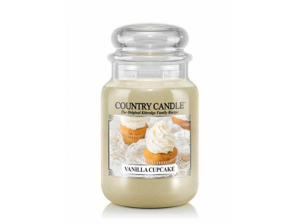 Svíčka Country Candle Vanilla Cupcake - Vanilkový Cupcake 652g velká