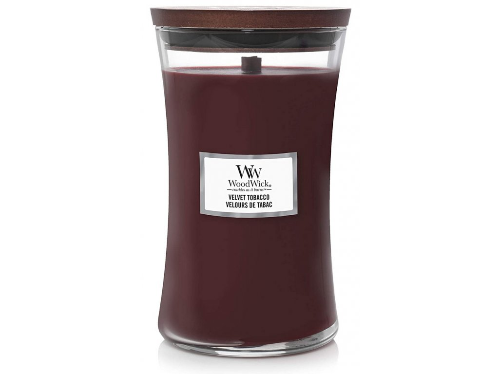 Svíčka WoodWick Velvet Tobacco - Sametový Tabák 609,5g velká