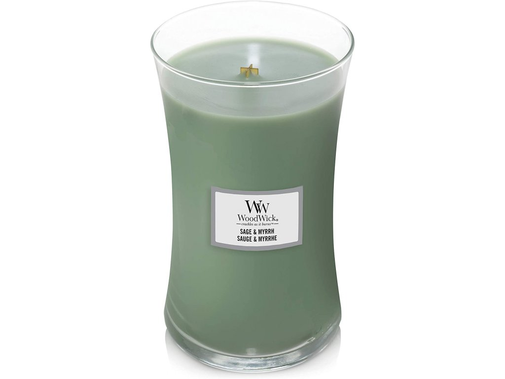 Svíčka WoodWick Sage & Myrrh Šalvěj a Myrta 609,5g velká