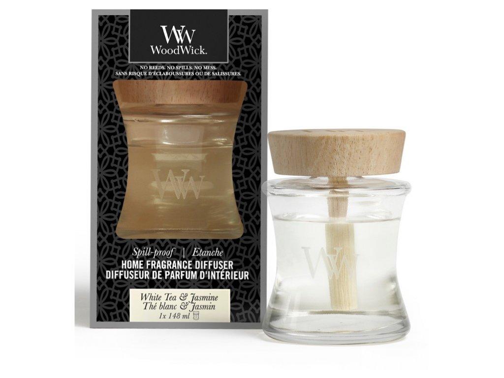 Aroma difuzér WoodWick  Spill-Proof Home - White Tea & Jasmine - Bílý Čaj a Jasmín 148 ml