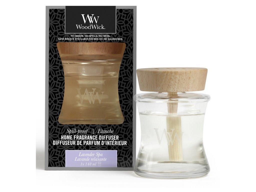 Aroma difuzér WoodWick  Spill-Proof Home - Lavender Spa - Levandulová Lázeň 148 ml