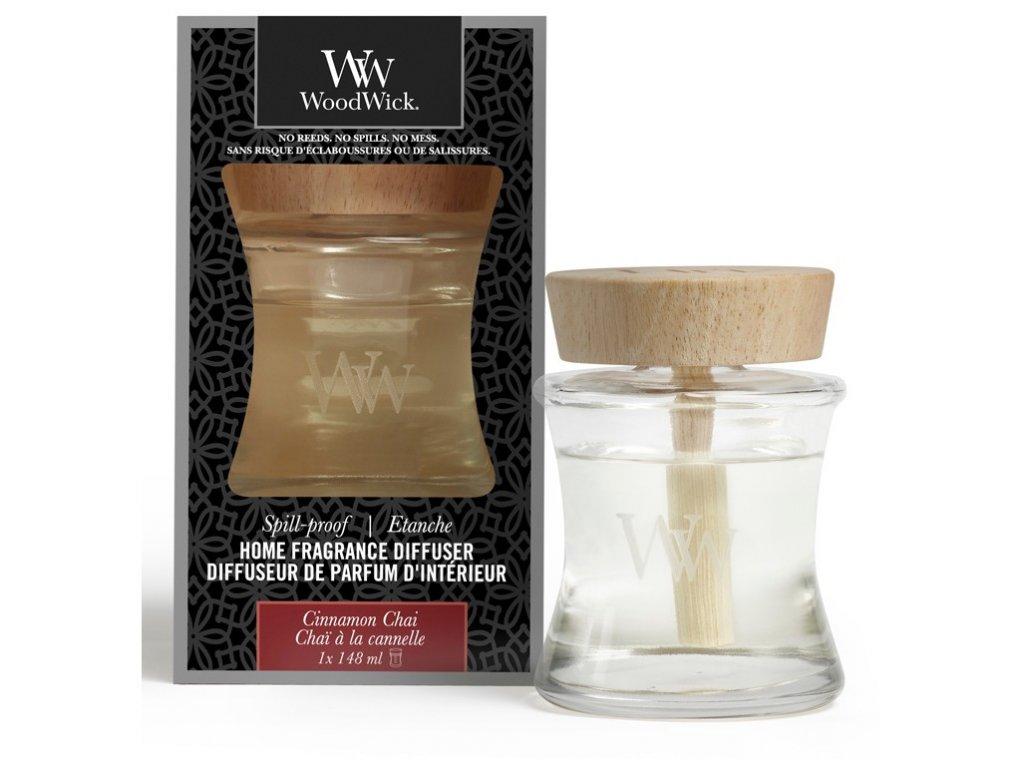 Aroma difuzér WoodWick  Spill-Proof Home - Cinnamon Chai - Vanilka a Skořice 148 ml