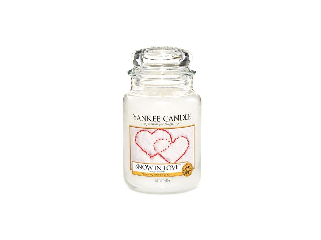 Svíčka Yankee Candle Snow in Love Srdce ve Sněhu 623g velká