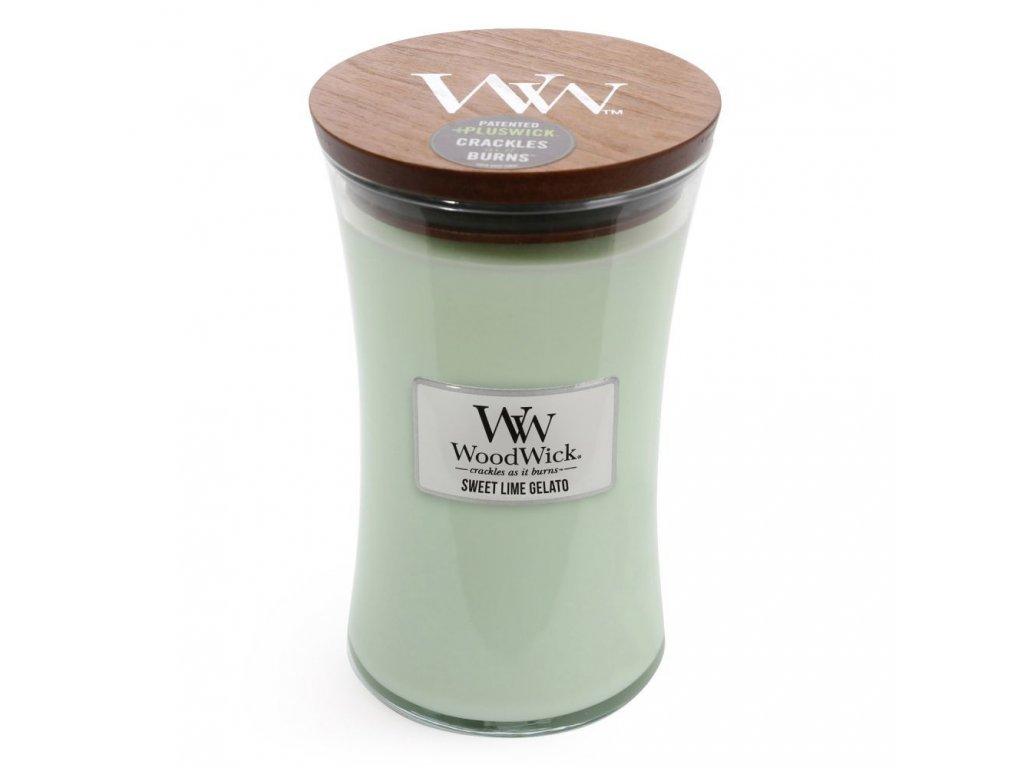 Svíčka WoodWick Sweet Lime Gelato Sladká Limetková Zmrzlina 609,5g velká