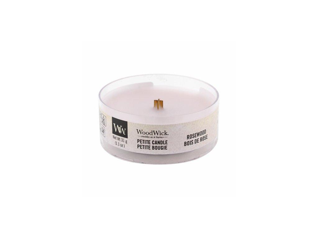 Svíčka WoodWick Rosewood Palisandr Růžové Dřevo 31g petite