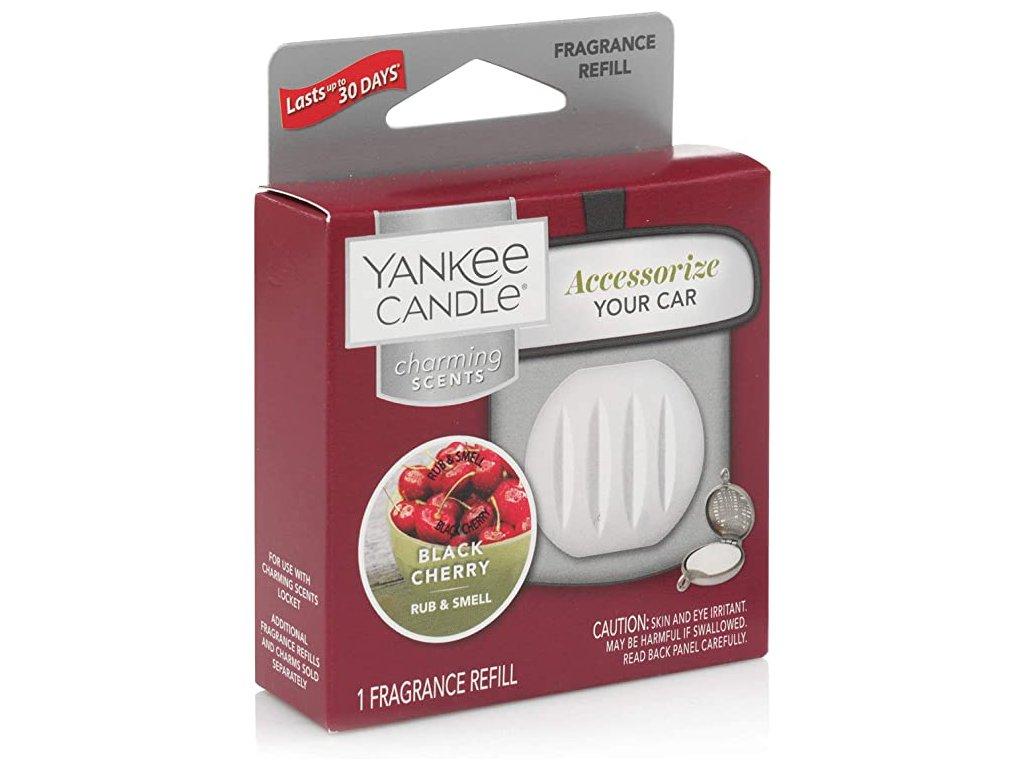 Yankee Candle Charming Scents Black Cherry Černá Třešeň Náhradní Náplň Vůně do Auta