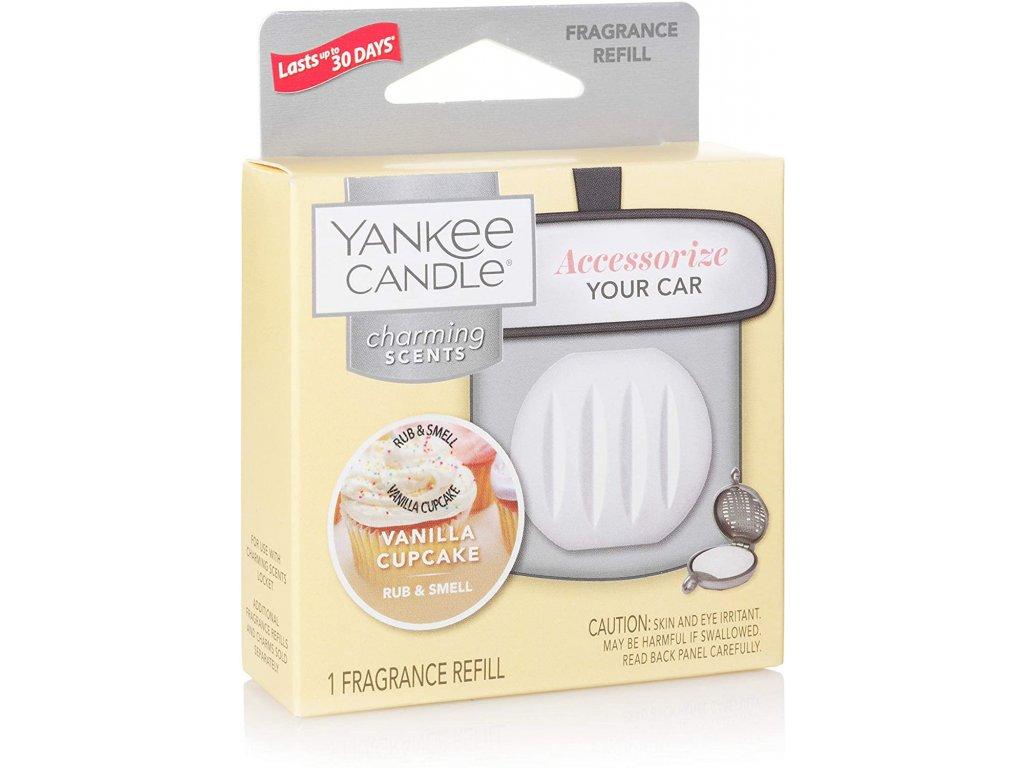 Yankee Candle Charming Scents Vanilla Cupcake Vanilkový Košíček Náhradní Náplň Vůně do Auta