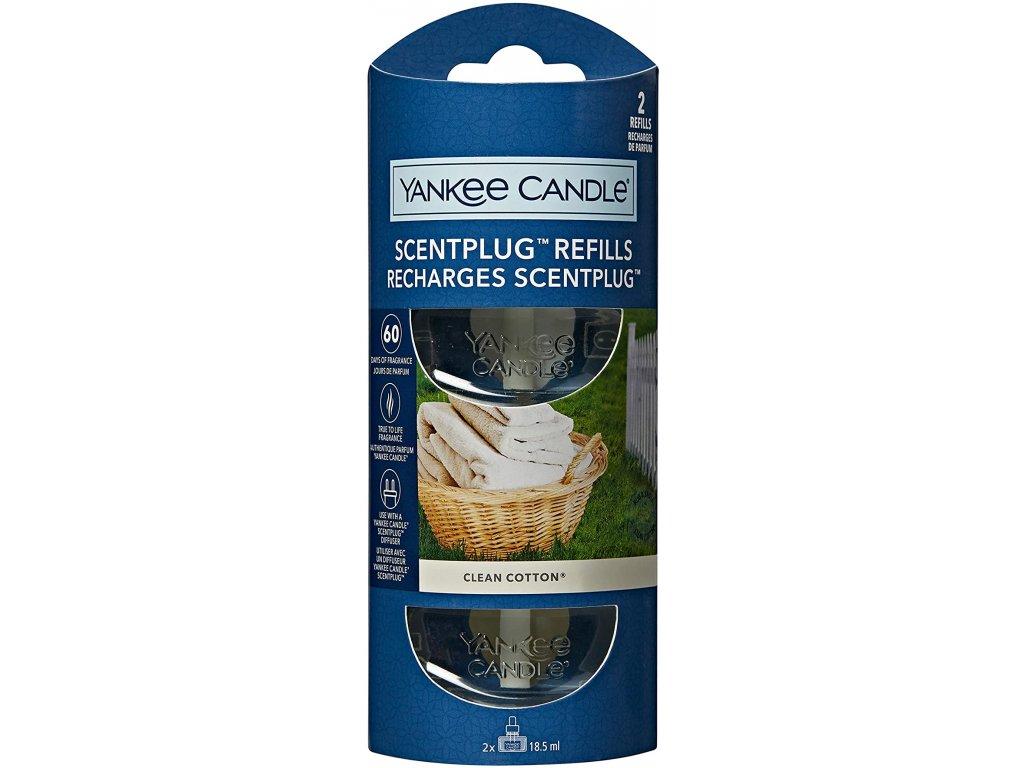 Yankee Candle Scentplug Refills Clean Cotton Čisté Prádlo Náplň do Elektrického Difuzéru 2ks