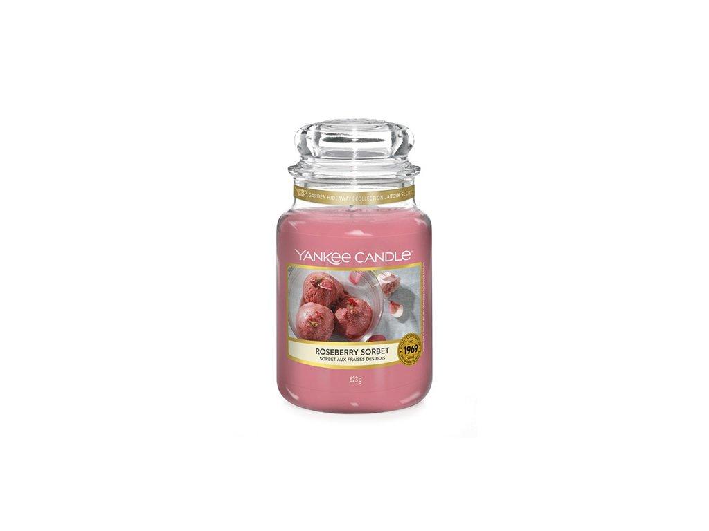 Svíčka Yankee Candle Roseberry Sorbet Růžový Sorbet 623g velká