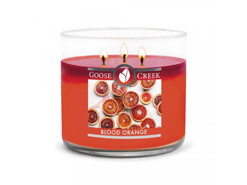 Svíčka Goose Creek Blood Orange Červený Pomeranč 411g střední