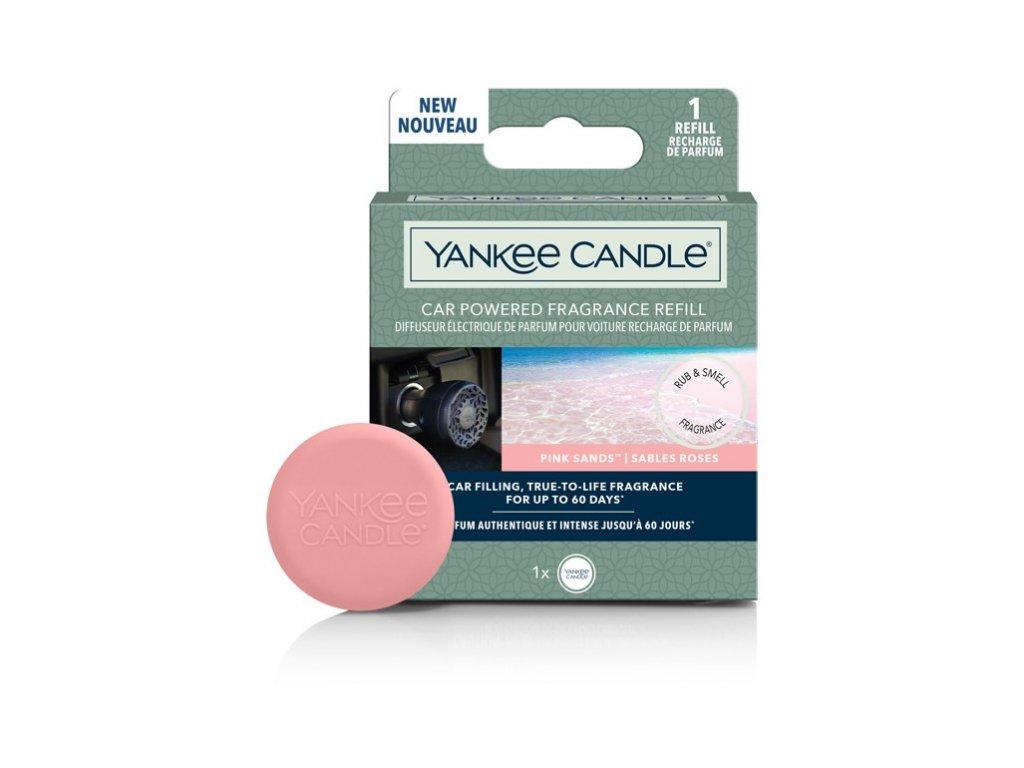 Yankee Candle Car Powered Fragrance Refill Pink Sands Růžový Písek Náhradní Náplň Do Elektrického Difuzéru Auta 1 ks
