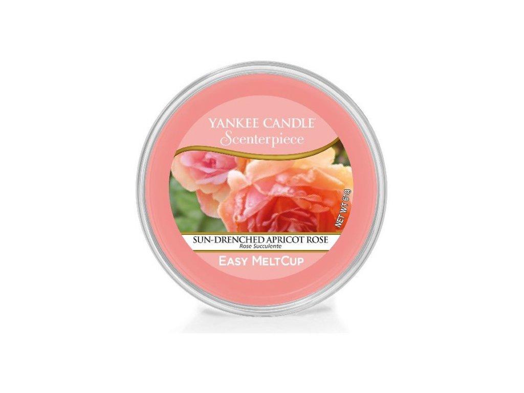 Vonný Vosk Yankee Candle Scenterpiece Easy MeltCup Wax Sun Drenched Apricot Rose Vyšisovaná Meruňková Růže Kalíšek Do Elektrické Aromalampy 61g