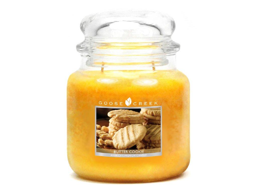 Svíčka Goose Creek Butter Cookie Máslové Sušenky 450g střední