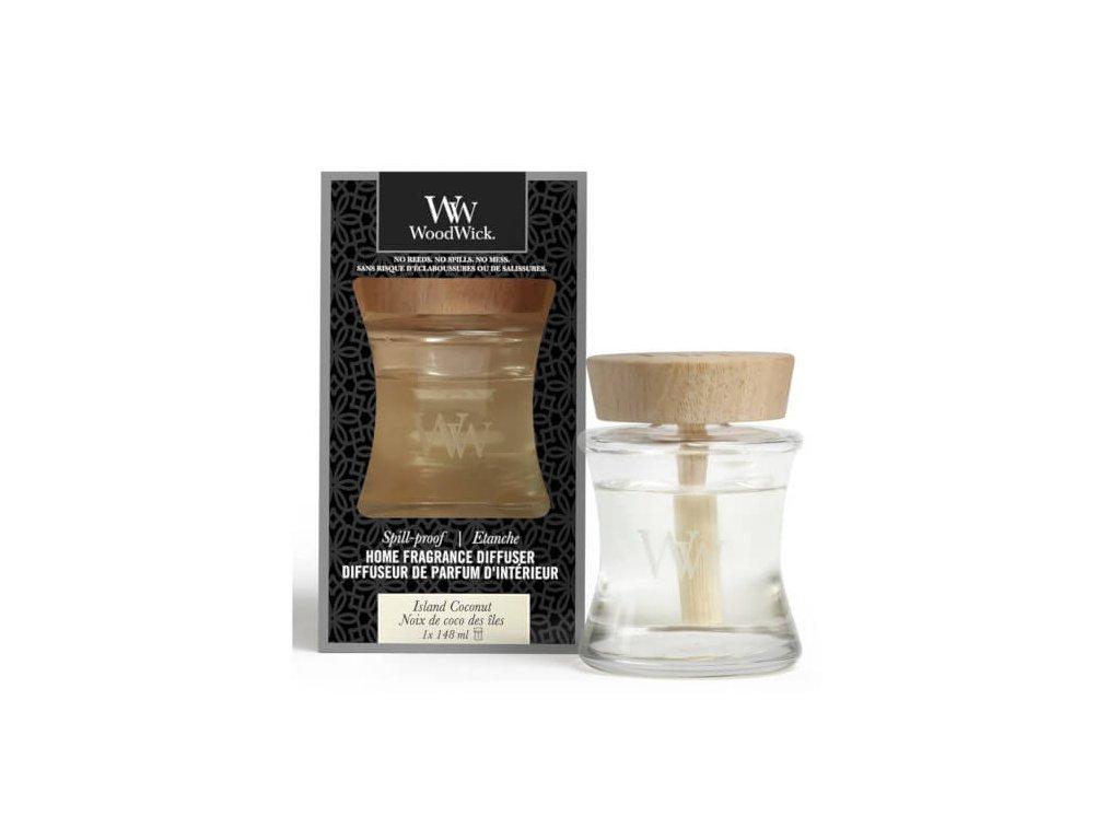 Aroma difuzér WoodWick Spill Proof Home Island Coconut Kokosový Ostrov 148 ml