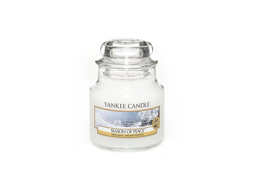 Svíčka Yankee Candle Season of Peace Období Míru 104g malá