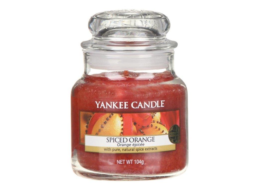 Svíčka Yankee Candle Spiced Orange Pomeranč a Koření 104g malá