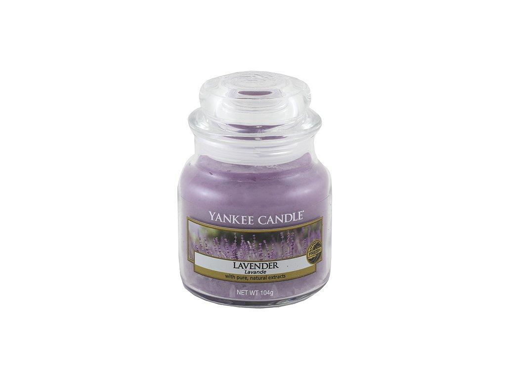 Svíčka Yankee Candle Lavender Levandule 104g malá
