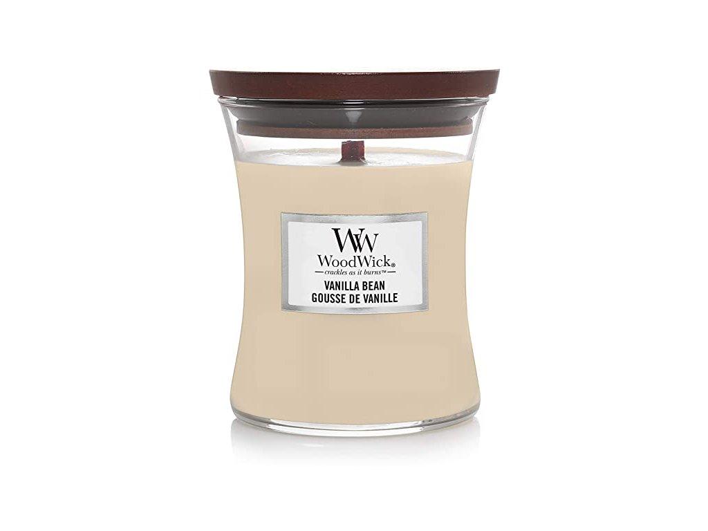 Svíčka WoodWick Vanilla Bean Vanilka 85g malá