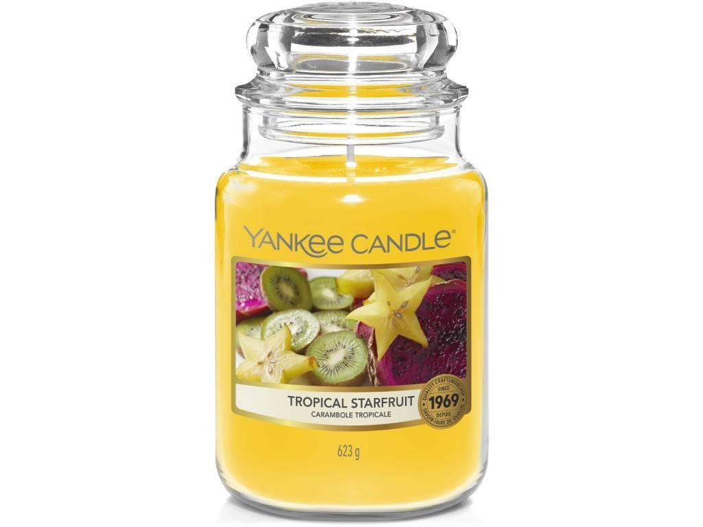 Svíčka Yankee Candle Tropical Starfruit Tropická karambola 623g velká1