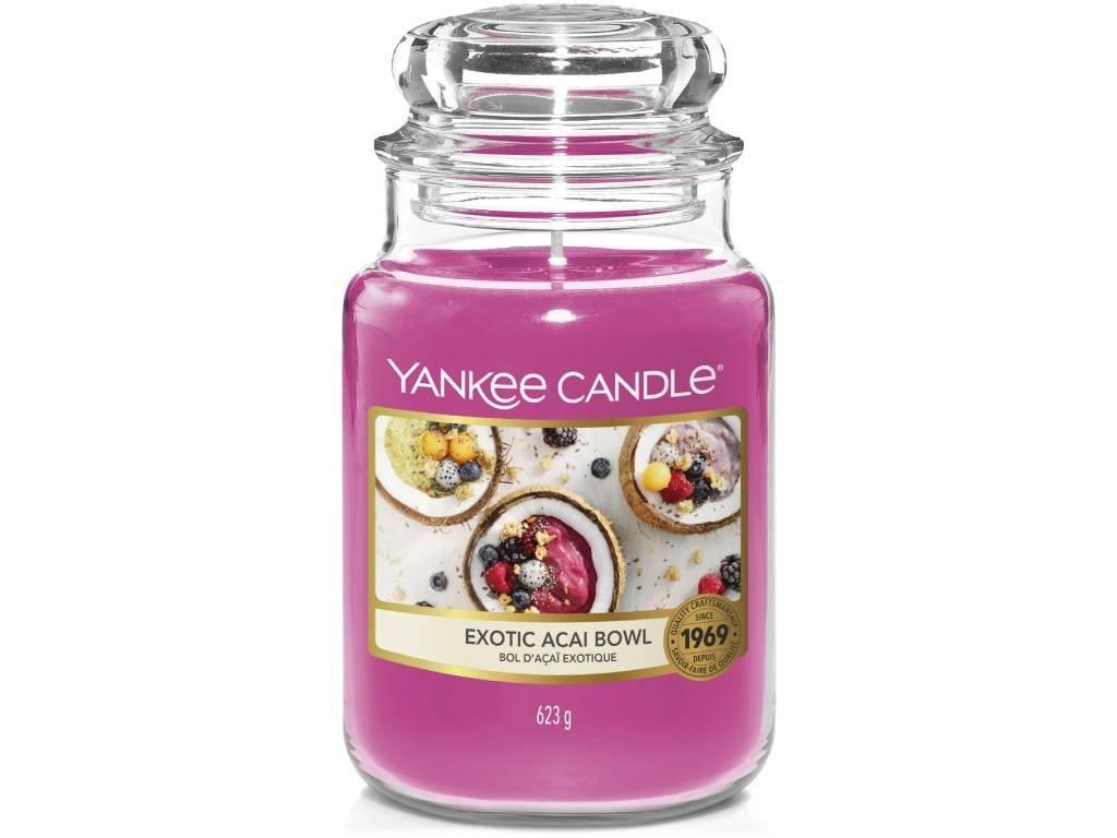 Svíčka Yankee Candle Exotic Acai Bowl Mísa plná exotického ovoce 623g velká