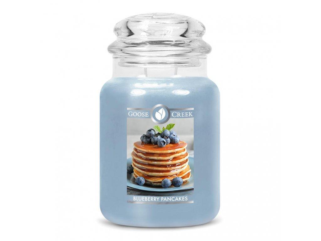 Svíčka Goose Creek Blueberry Pancakes Borůvkové Lívance 680g velká