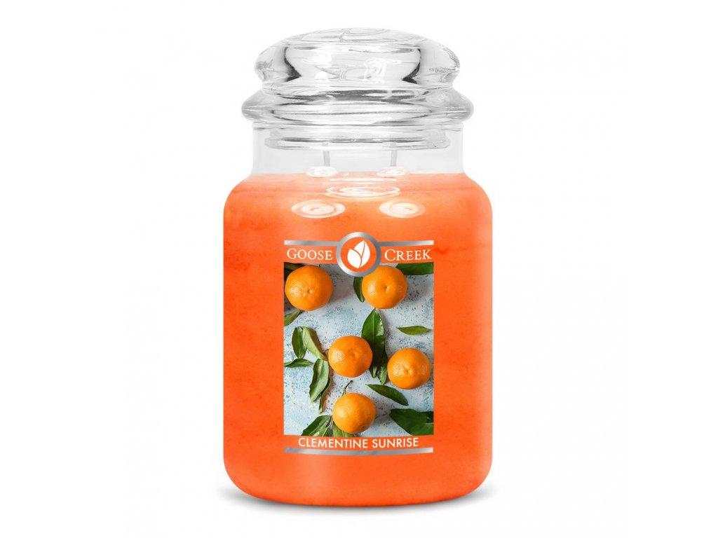 Svíčka Goose Creek Clementine Sunrise Mandarinky 680g velká