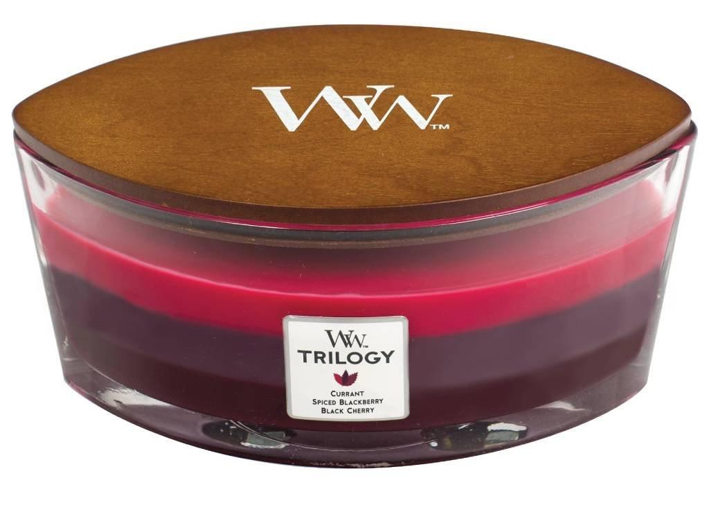 Svíčka WoodWick Trilogy Sun Ripened Berries Letní Bobule 453,6g lodička